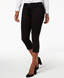 Lee Platinum Petite Button-Hem Capri Jeans