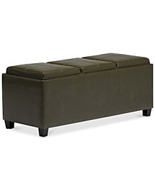 Avalon Storage Ottoman, Quick Ship