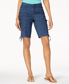 Style & Co Petite Chambray Cargo Shorts, Created for Macy's