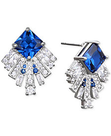 Jewel Badgley Mischka Square Crystal Fan Drop Earrings