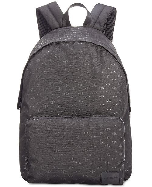 Armani Exchange Men s Logo-Print Backpack   Reviews - All ... 3386747fa01fe
