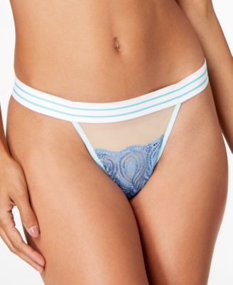 Bisou Embroidered-Lace Thong BISOU0233