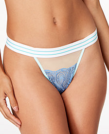 Cosabella Bisou Embroidered-Lace Thong BISOU0233