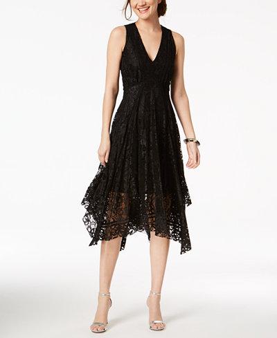Taylor V-Neck Lace Midi Dress