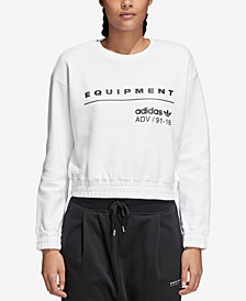 adidas Originals Equipment Cotton Cropped Sweatshirt