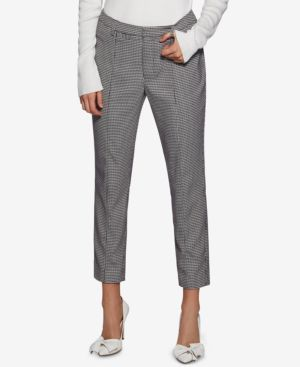 HOUNDSTOOTH CROPPED PANTS