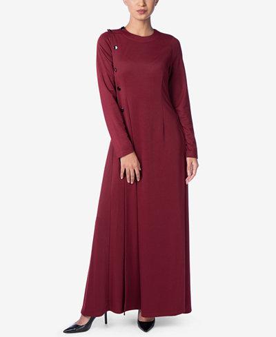 Verona Collection Lucianna Button-Side Maxi Dress