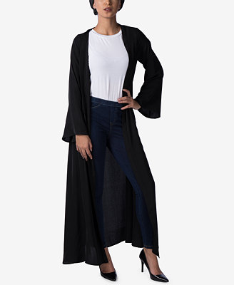 Bell Sleeve Maxi Cardigan by Verona Collection