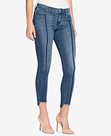 WILLIAM RAST Frayed Step-Hem Skinny Jeans