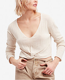 Free People Got Me Twisted V-Neck Sweater