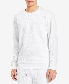 Calvin Klein Jeans Men's Embossed Sweatshirt, Created for Macy's