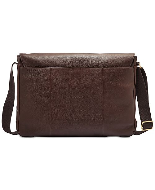 dd66348adfa6 Fossil Men s Leather Buckner Messenger Bag - All Accessories - Men ...