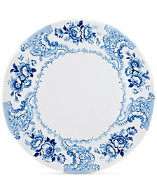 "Cambridge Rose in Cobalt Melamine 16"" Serving Platter"