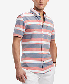 Tommy Hilfiger Men's Donahue Stripe Pocket Shirt, Created for Macy's