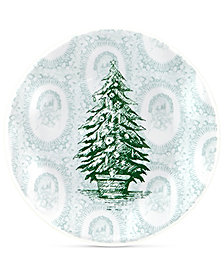 Q Squared Yuletide 4-Pc. Bread & Butter Plate Set