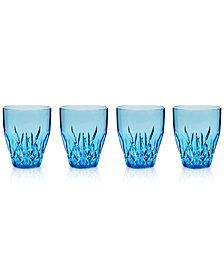 Q Squared Aurora Topaz Stemless Wine Glasses, Set of 4