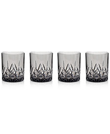 Q Squared Aurora Twilight Double Old-Fashioned Tumblers, Set of 4