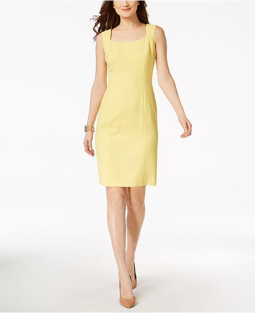 cefc93bb985 Kasper Textured-Knit Sheath Dress