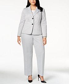 Le Suit Plus Size Textured Pantsuit