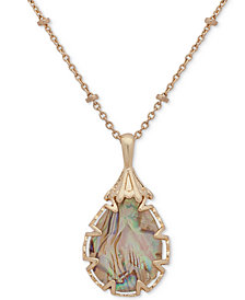 "lonna & lilly Large Stone Pendant Necklace, 16"" + 3"" extender, Created for Macy's"