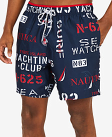 "Nautica Men's Yacht Club  6"" Swim Trunks"