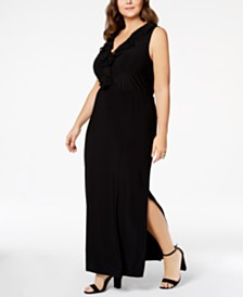 Love Squared Trendy Plus Size Ruffled Maxi Dress