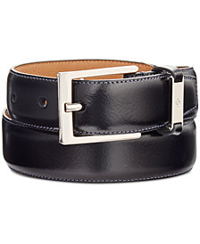 Ryan Seacrest Distinction –100% Italian Leather Men's Dress Belt, Created for Macy's
