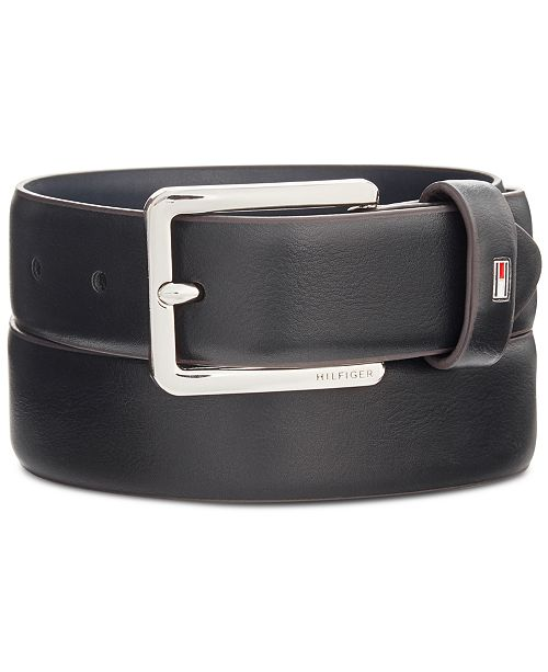 Tommy Hilfiger Men's Flex Feather-Edge Dress Belt