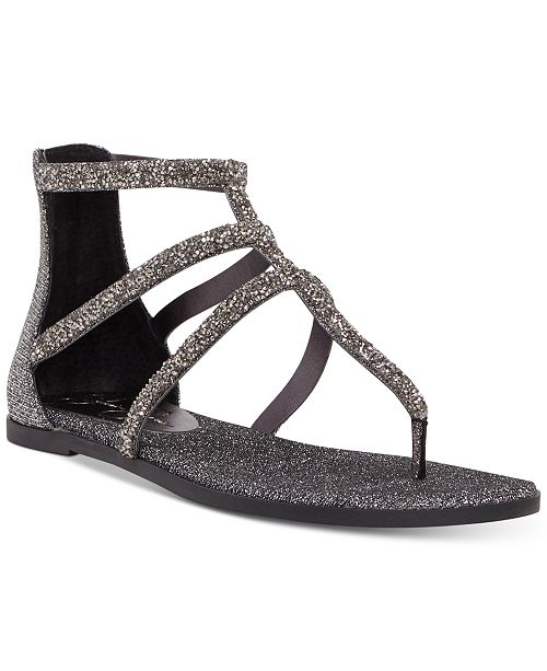 3fa00ced9 Jessica Simpson Cammie Sparkle Strap Flat Sandals   Reviews ...