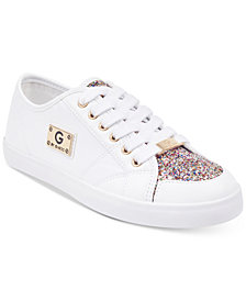 G by GUESS Matrix Glitter Lace Up Sneakers