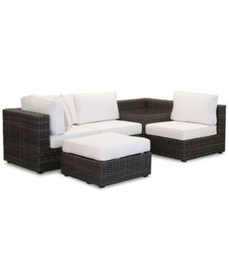 Viewport Outdoor 5-Pc. Modular Seating Set (1 Corner Units, 2 Armless Units, 1 Corner Table and 1 Ottoman) with Sunbrella® Cushions, Created for Macy's