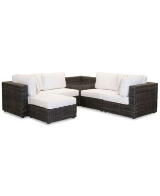Viewport Outdoor 6-Pc. Modular Seating Set (2 Corner Units, 2 Armless Units, 1 Corner Table and 1 Ottoman)with  with Sunbrella® Cushions, Created for Macy's