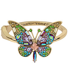 Betsey Johnson Gold-Tone Crystal & Pavé Butterfly Statement Ring