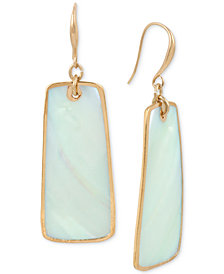 Robert Lee Morris Soho Gold-Tone Imitation Mother-of-Pearl Drop Earrings