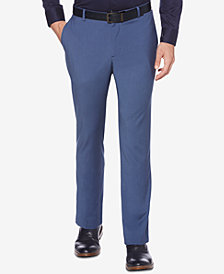 Perry Ellis Men's Portfolio Slim-Fit Stretch Basketweave Dress Pants