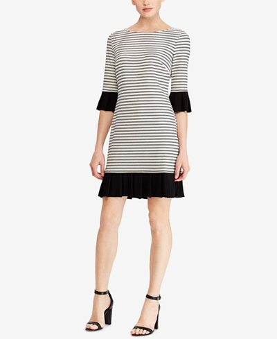 American Living Striped Pleated Dress