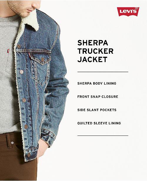 dc764f4dd0d Levi s Sherpa Denim Trucker Jacket   Reviews - Coats   Jackets - Men ...
