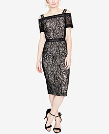 RACHEL Rachel Roy Cold-Shoulder Lace Dress