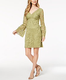 Betsey Johnson Lace Bell-Sleeve Dress