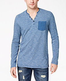 American Rag Men's Stripe Pocket Henley, Created for Macy's