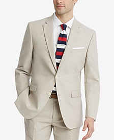 Men's Modern-Fit Flex Stretch Tan Suit Jacket