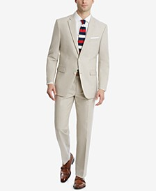 Men's Modern-Fit Flex Stretch Tan Suit Separates