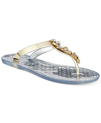 Badgley Mischka Gracia Thong Flat Sandals Women's Shoes