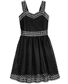 Bonnie Jean Geo Lace Dress, Big Girls