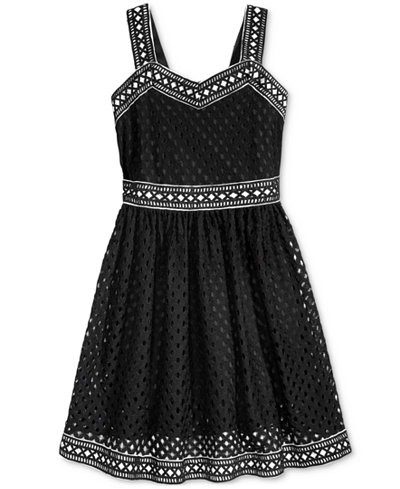Bonnie Jean Geo Lace Dress, Big Girls