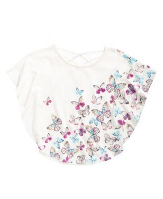 Butterfly-Print Circle Top, Big Girls, Created for Macy's