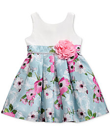 Sweet Heart Rose Floral-Print Dress, Little Girls