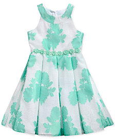 Sweet Heart Rose Floral-Print Dress, Big Girls
