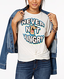Love Tribe Juniors' Never Not Hungry Graphic-Print T-Shirt