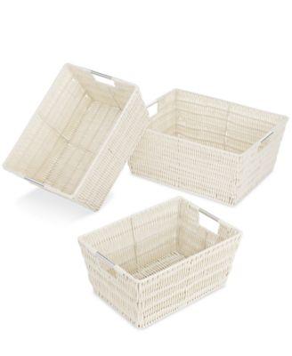 Whitmor Storage Baskets Set of 3 Rattique - Cleaning u0026 Organization - Home - Macyu0027s  sc 1 st  Macyu0027s & Whitmor Storage Baskets Set of 3 Rattique - Cleaning u0026 Organization ...